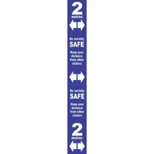 Floor Distance Marker – Blue PVC LAM (800 X 100mm)