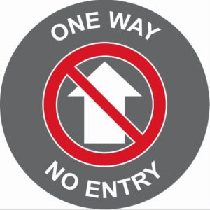 One Way No Entry Floor Graphic (400mm)