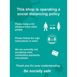 This Shop Is Operating A Social Distancing Policy C – RPVC (210 X 297mm)