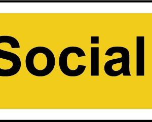 Respect Social Distance Self Adhesive Sign (800 X 100mm)