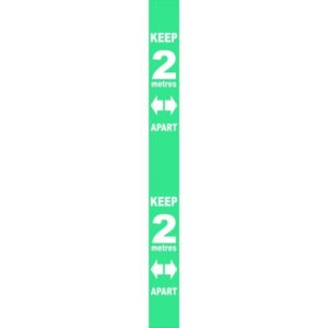 Wall Distance Marker – Turquoise PVC (800 X 75mm)