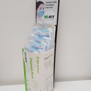 Retail Pack Stand And 5 Packs Of 10 Face Masks