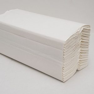 C FOLD HAND TOWELS WHITE CASE 2400