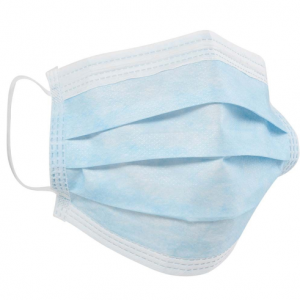 Disposable Type IIR Certified 3 Ply Fluid Resistant Protective Face Masks, EN14683, Pack 50