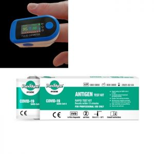 COVID-19 Test Kit X 5 Plus Oximeter X 1