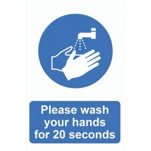 Please Wash Your Hands For 20 Seconds